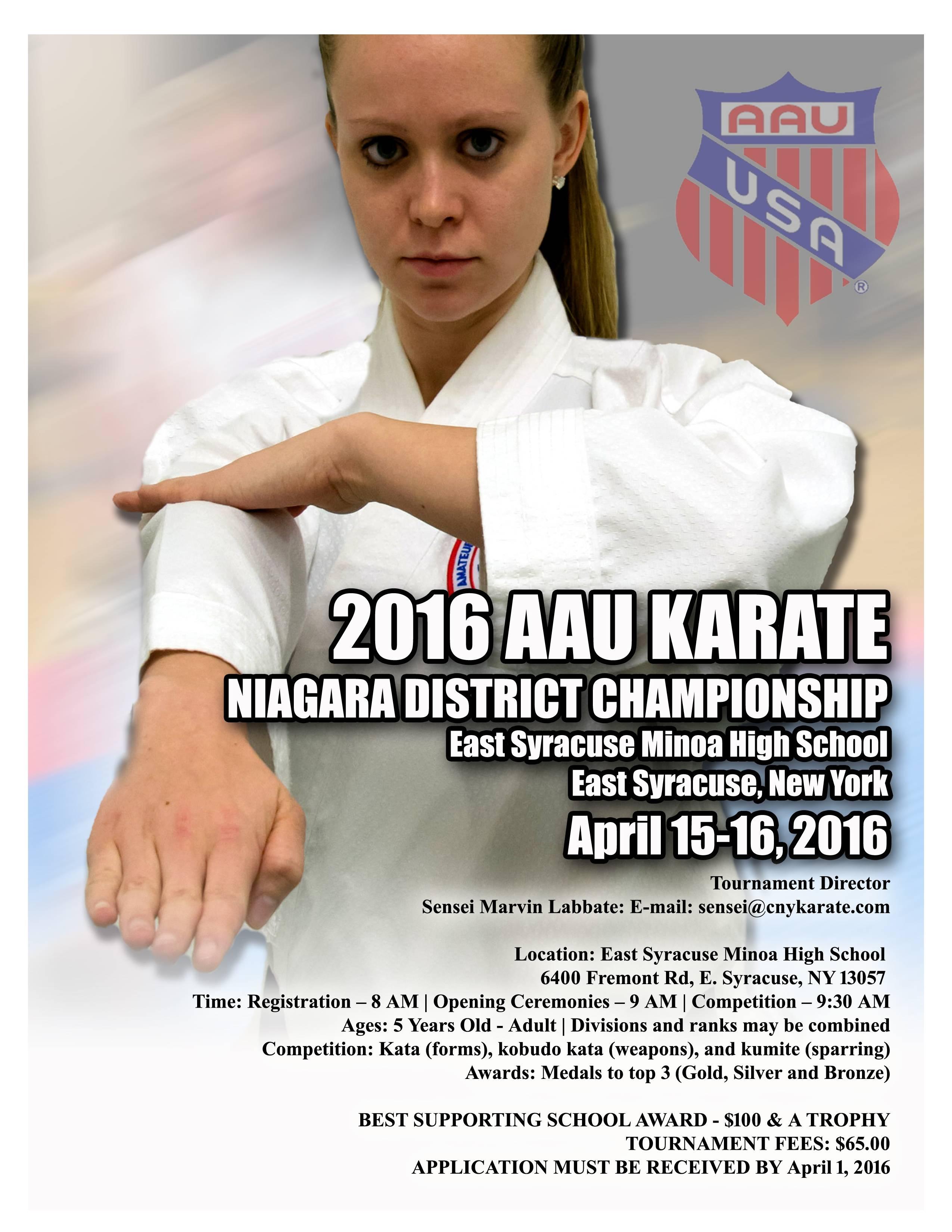 2016 AAU Karate Niagara District Championship
