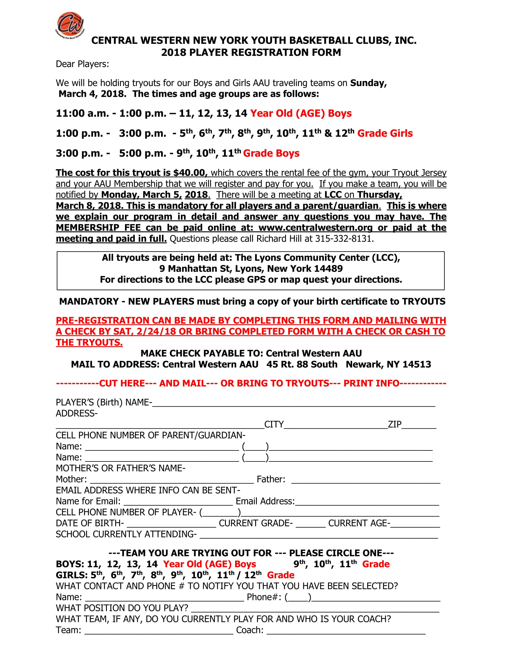 Central western tryouts niagara district aau sports central western tryouts aiddatafo Choice Image